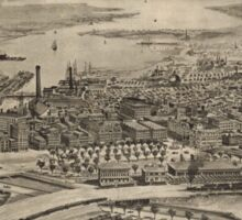 Vintage Pictorial Map of Providence RI (1896) Sticker