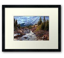 Elbow pass creek Framed Print