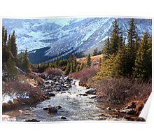 Elbow pass creek Poster