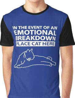 Emotional Breakdown Place Cat Here Graphic T-Shirt