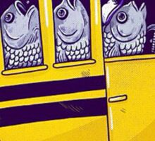 the fish ride a bus Sticker