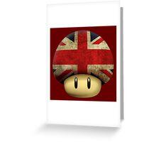 Union jack Mario's mushroom Greeting Card