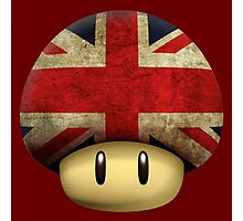 Union jack Mario's mushroom Photographic Print