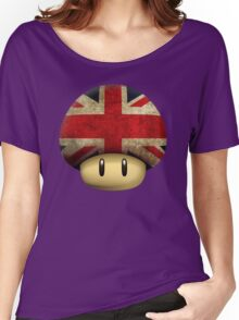 Union jack Mario's mushroom Women's Relaxed Fit T-Shirt