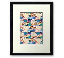 pattern with mushrooms  Framed Print