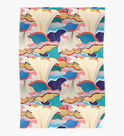 pattern with mushrooms  Poster