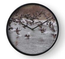 Geese in Flight Clock