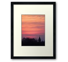 Tower and Trees at Sunset Framed Print