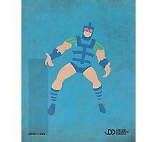 Infinity Man - Superhero Minimalist Alphabet Print Art Photographic Print
