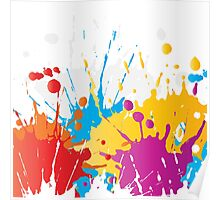 Wet Paint Splash  Poster