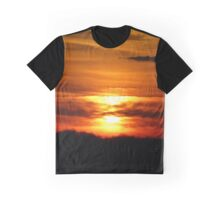 Red Sunset Graphic T-Shirt