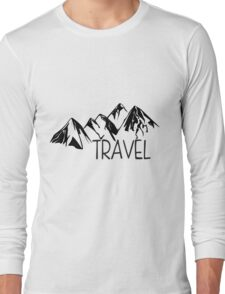 Travel Mountains Long Sleeve T-Shirt