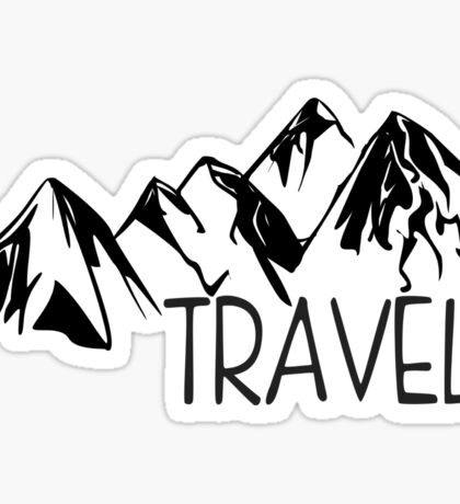 Travel Mountains Sticker