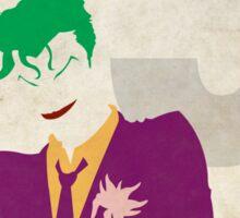 The Joker - Superhero Minimalist Alphabet Print Art Sticker