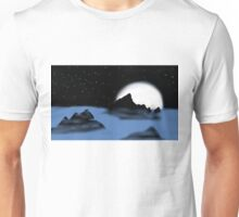 Moonlit Mountain Silhouette  Unisex T-Shirt