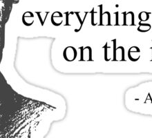 Don't Believe Everything You Read on the Internet Abe Lincoln Meme Sticker