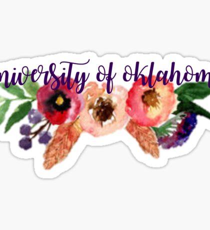 Floral University of Oklahoma Sticker