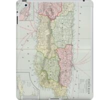 Vintage Map of Puerto Rico (1901) iPad Case/Skin