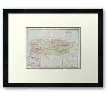 Vintage Map of Puerto Rico (1901) Framed Print