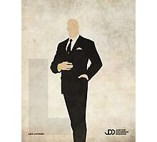 Lex Luthor - Superhero Minimalist Alphabet Print Art Photographic Print