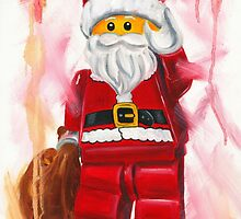 father Christmas - lego style by Deborah Cauchi