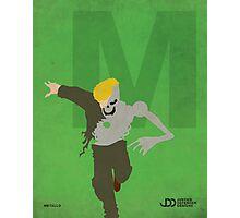 Metallo - Superhero Minimalist Alphabet Print Art Photographic Print