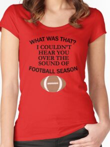 Football Season Women's Fitted Scoop T-Shirt