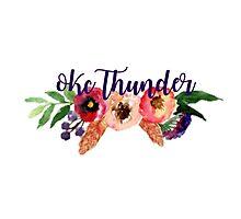 Floral Oklahoma City Thunder Photographic Print