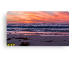 Sunset over the Indian Ocean Canvas Print