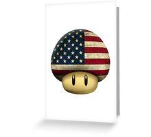 USA Mario's mushroom Greeting Card