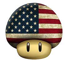 USA Mario's mushroom Photographic Print