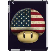 USA Mario's mushroom iPad Case/Skin