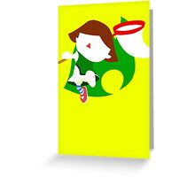 Super Smash Bros The Female Villager  Greeting Card