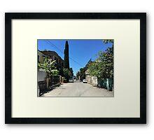 Summer town Framed Print