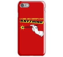 I Can Accomplish Anything - Black and Yellow iPhone Case/Skin