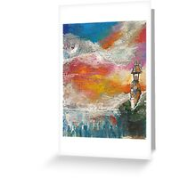 Oil Pastel Lighthouse Greeting Card