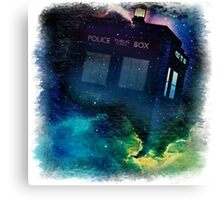 Tardis in Time & Space Canvas Print