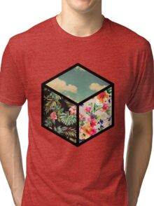 Floral Vintage Cube Tri-blend T-Shirt