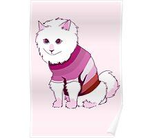 Lesbian Flag Cat Poster