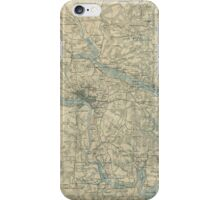 Vintage Map of The Richmond Virginia Area (1864) iPhone Case/Skin