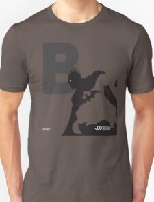 Batman - Superhero Minimalist Alphabet Clothing T-Shirt