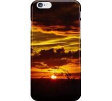 Fiery sky iPhone Case/Skin