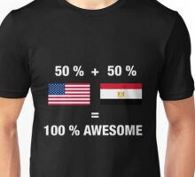Egyptian American Half Egypt Half America Flag Unisex T-Shirt