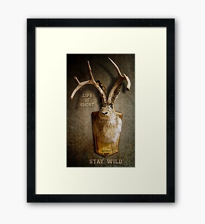 Life Is Short. Stay Wild. 2 Framed Print