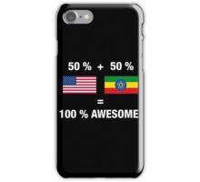 Ethiopian American Half Ethiopia Half America Flag iPhone Case/Skin