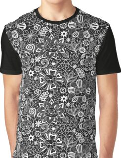 Lace Flower Cats Graphic T-Shirt