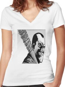 the walking dead Women's Fitted V-Neck T-Shirt