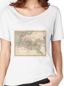 Vintage Map of The Roman Empire (1838) Women's Relaxed Fit T-Shirt