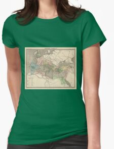 Vintage Map of The Roman Empire (1838) Womens Fitted T-Shirt