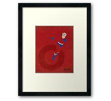Orion - Superhero Minimalist Alphabet Print Art Framed Print